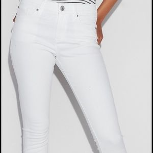 Express white STELLA barley boot jeans 10